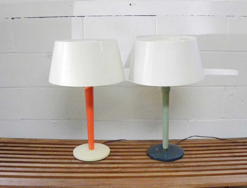 Lightolier Mcm Table Desk Lamp By Gerald Thurston